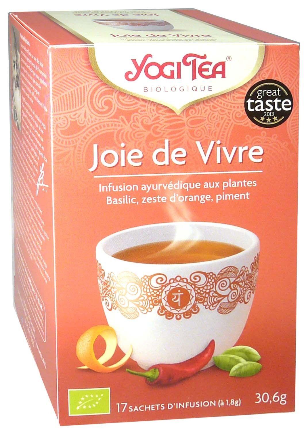 Yogi tea infusion joie de vivre x17 sachets