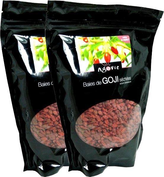 AGOVIE Lot 2x500g baies de goji berry nature