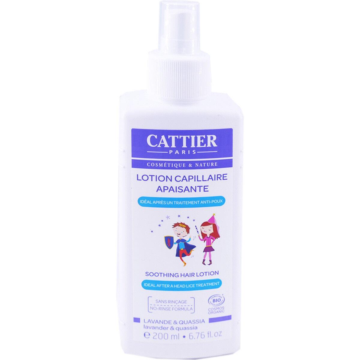 Cattier lotion capillaire apaisante bio 200ml