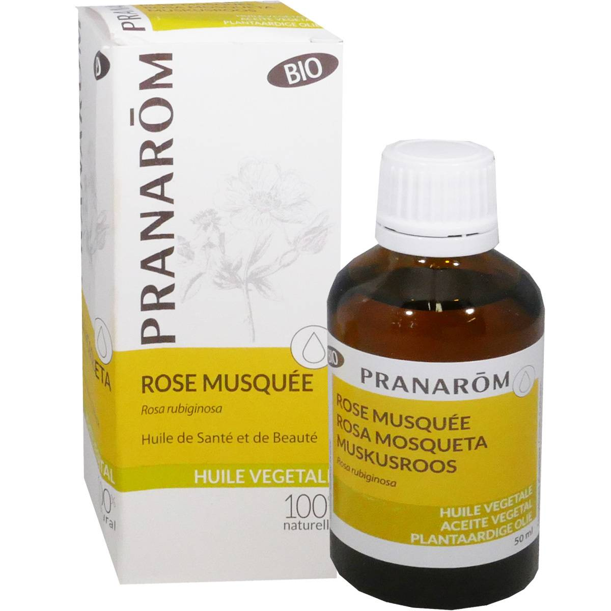 Pranarom rose musquee 50 ml huile sante et beaute