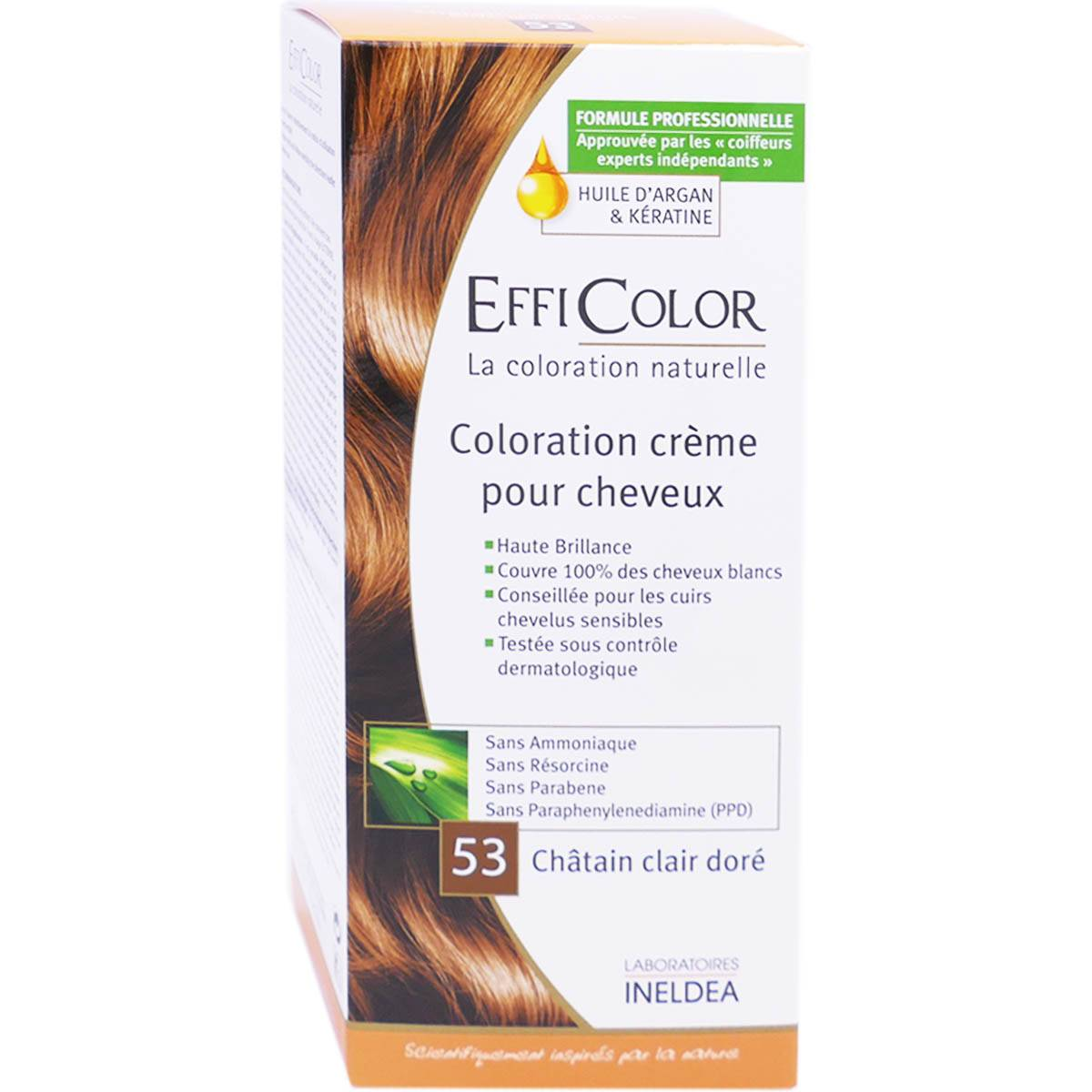 Ineldea effi color chatain clair dore 53