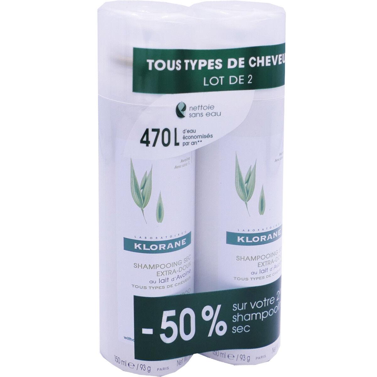 Klorane shampooing sec 2x 150 ml