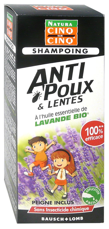 Cinq sur cinq shampoing anti poux lavande bio 100ml