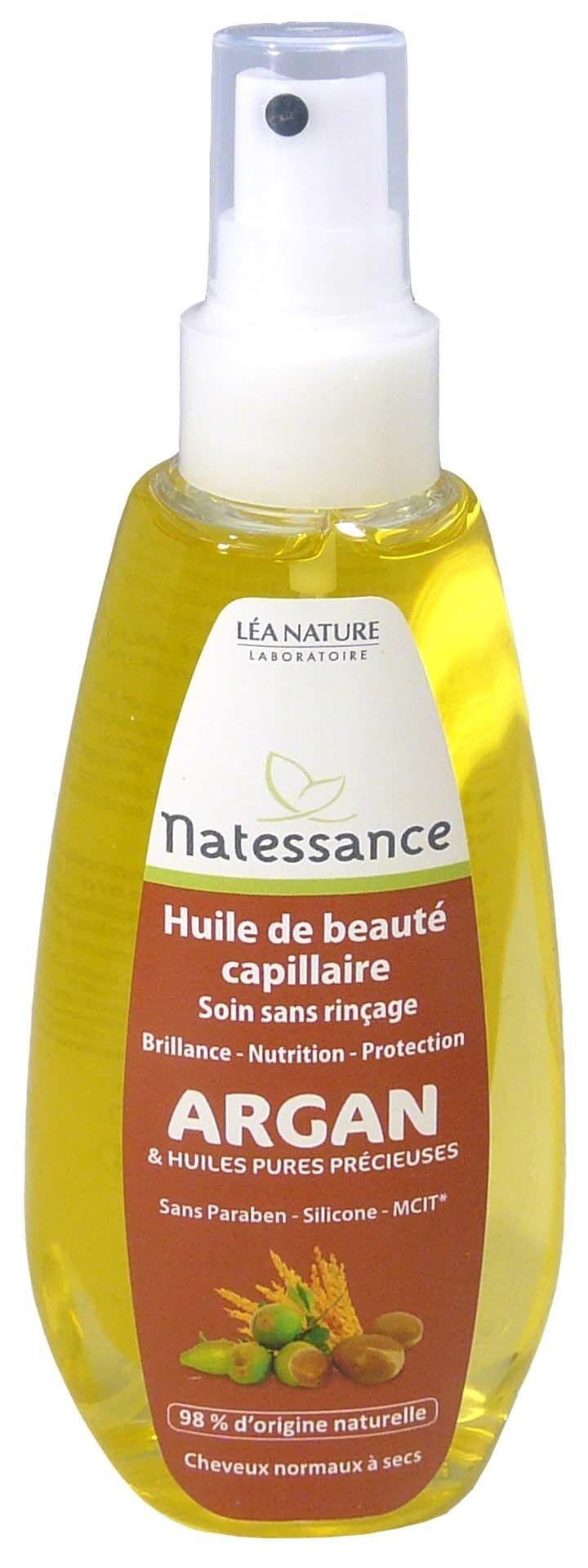 Natessance huile de beaute capillaire argan 150ml