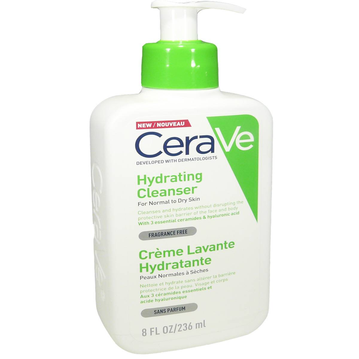 Cerave creme lavante hydratante 236 ml peaux normales a seches