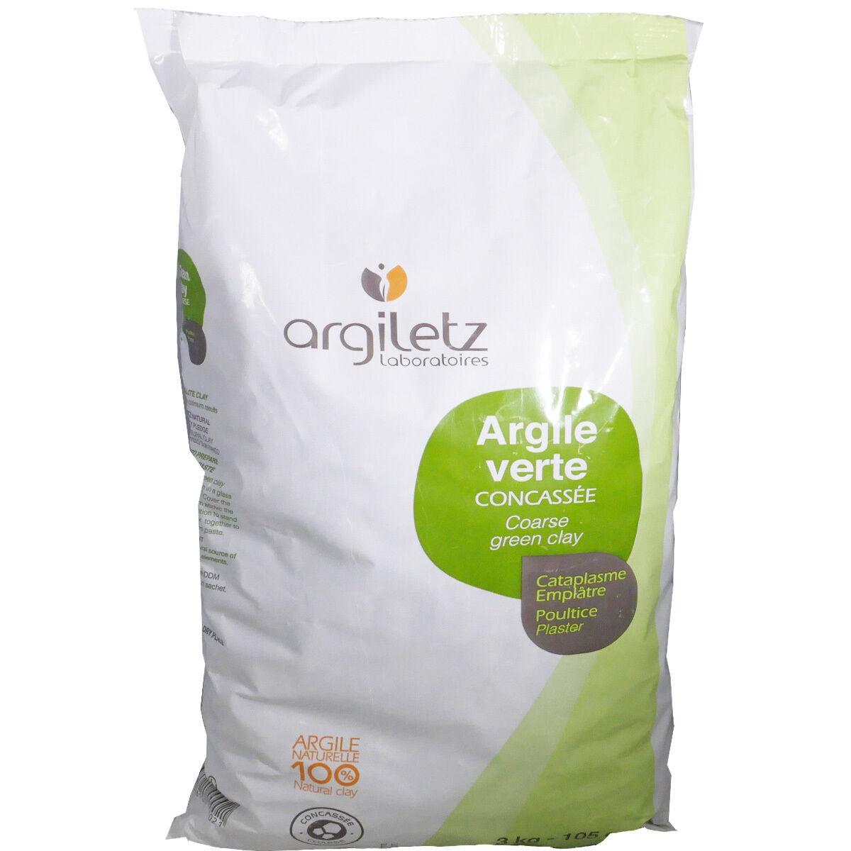 Argiletz argile verte concassee cataplasme emplatre 3 kg - 4 max / cde