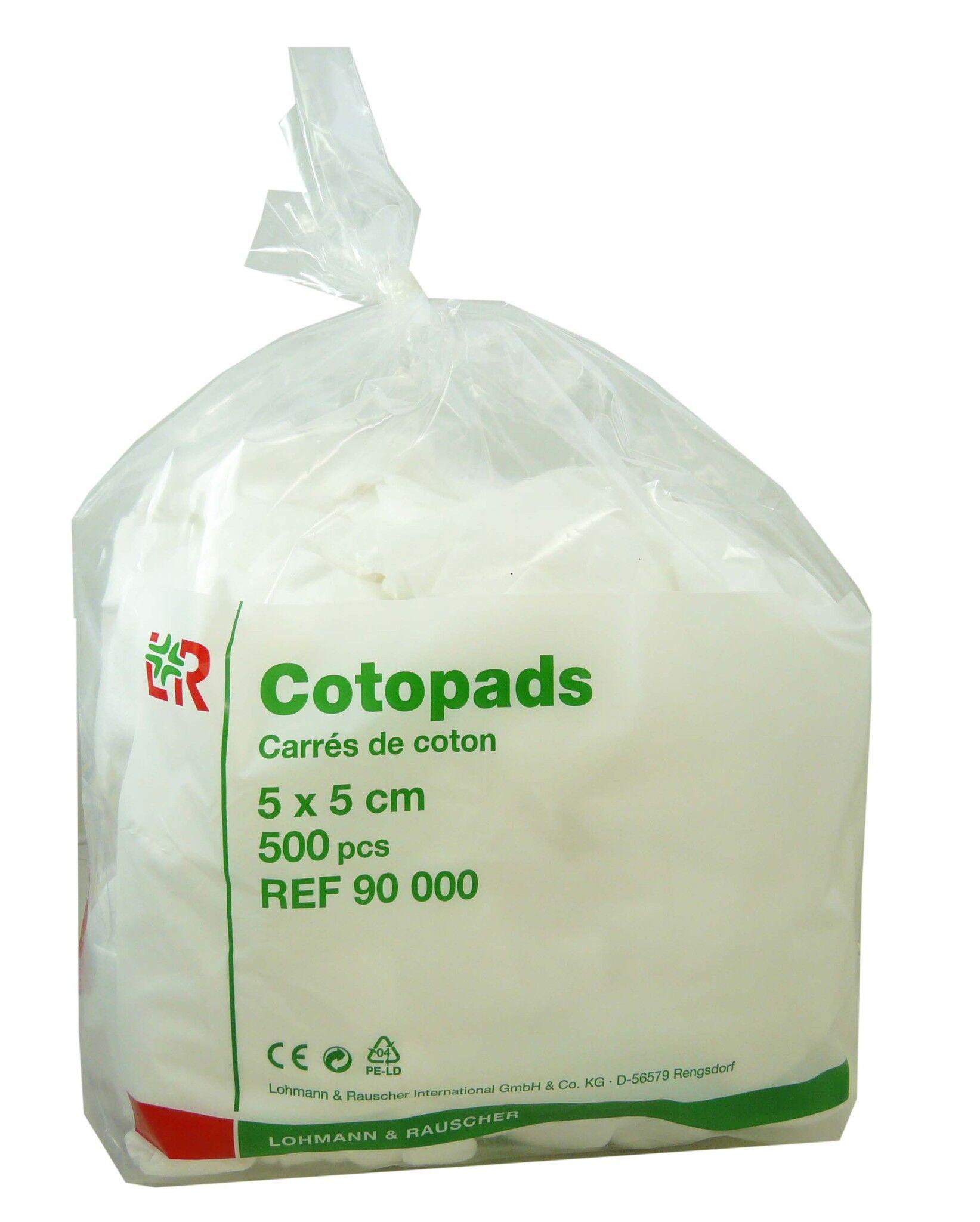 DIVERS Cotopads coton carre 5x5 cm 500 pieces
