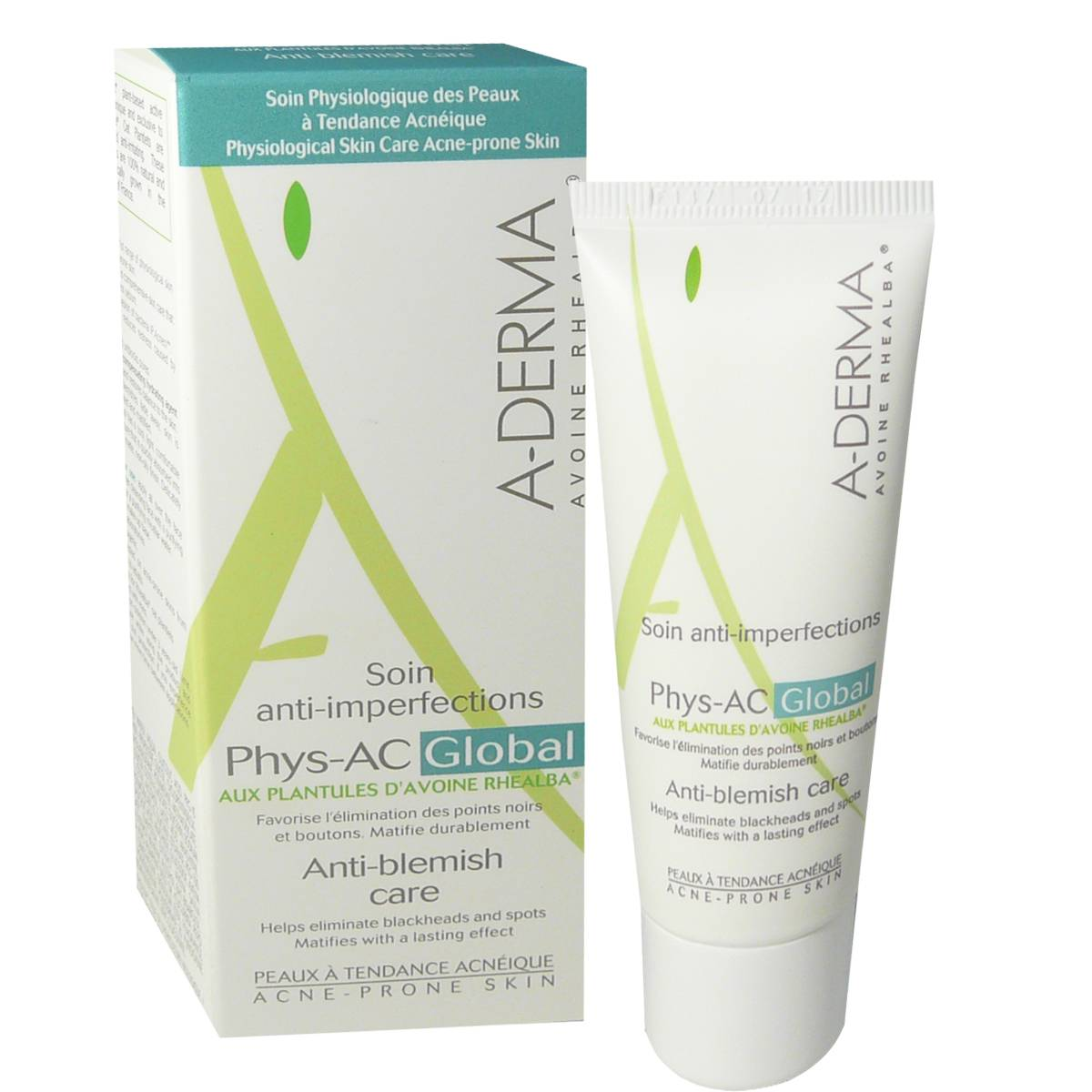 A DERMA Aderma soin anti-imperfections phys-ac aux plantules d'avoine 40 ml