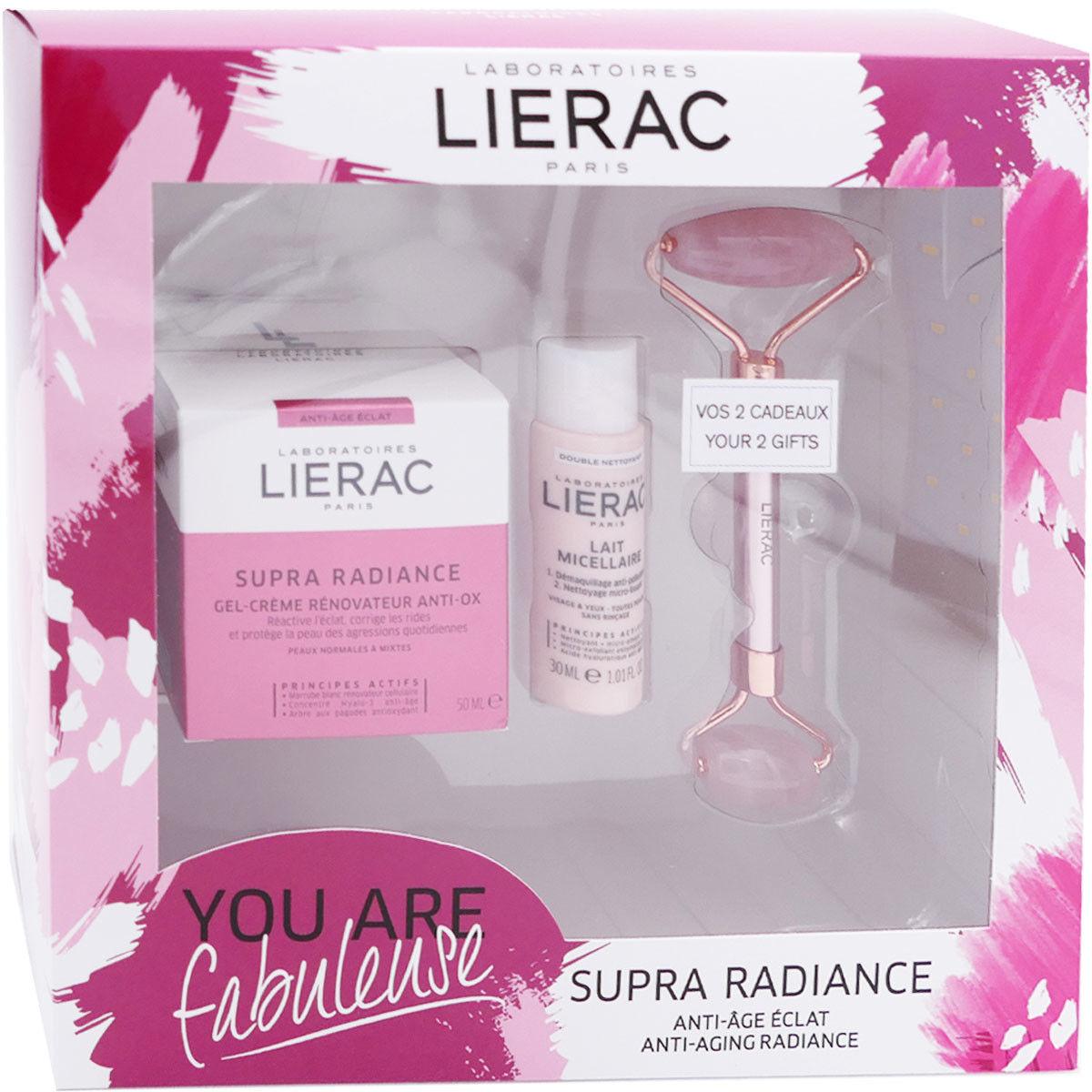 Lierac coffret supra radiance gel creme renovateur anti-ox 50ml + 2 soins offert