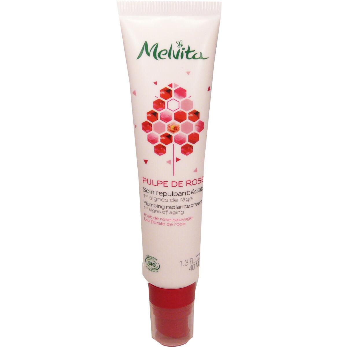 Melvita soin repulpant pulpe de rose 40 ml anti-age