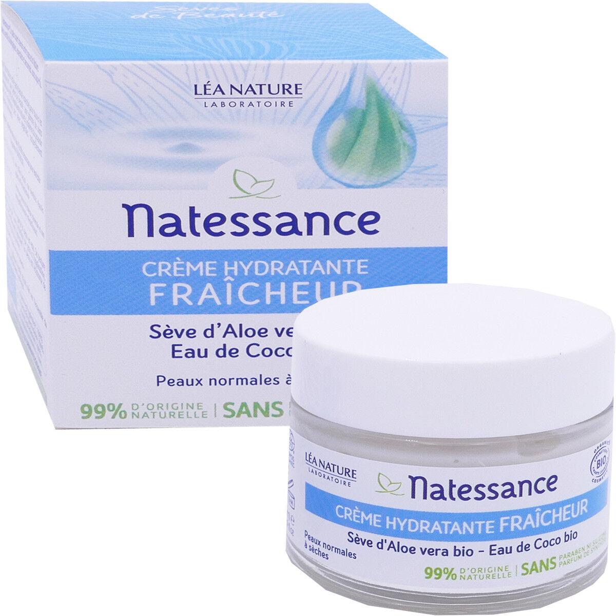 Natessance creme hydratante bio 50 ml seve d'aloe vera