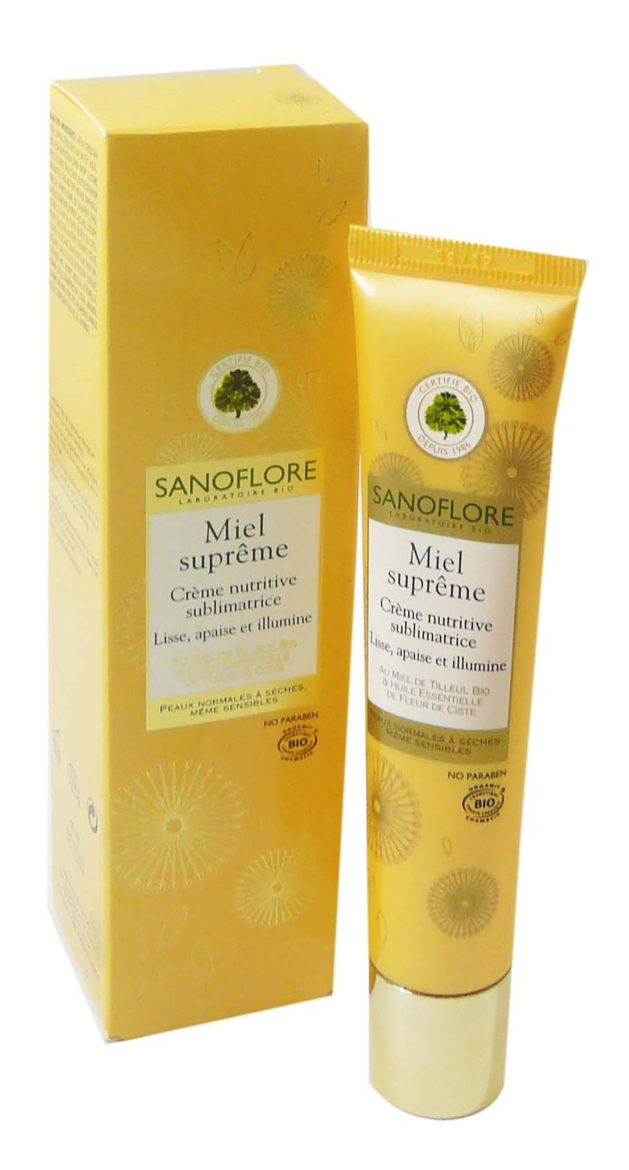 Sanoflore miel supreme creme nutritive peaux normales 40ml