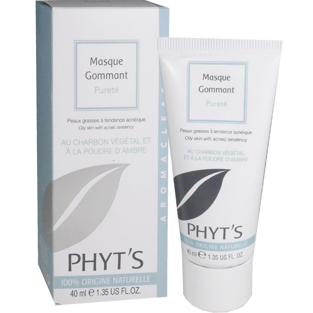 Phyt's masque gommant au charbon vegetal 40 ml