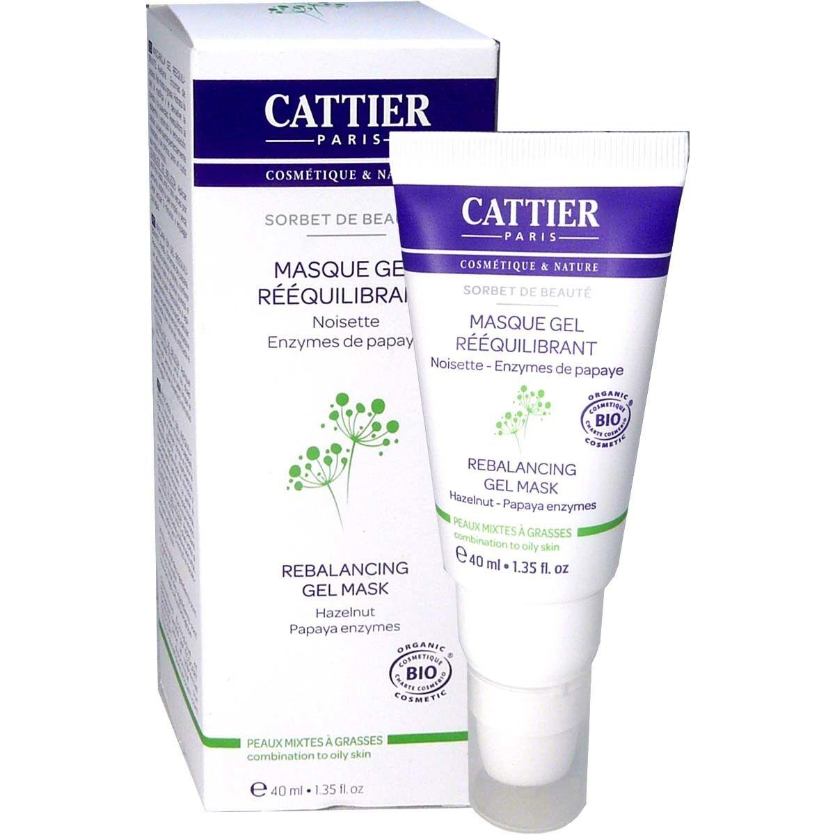 Cattier masque gel reequilibrant bio 40 ml