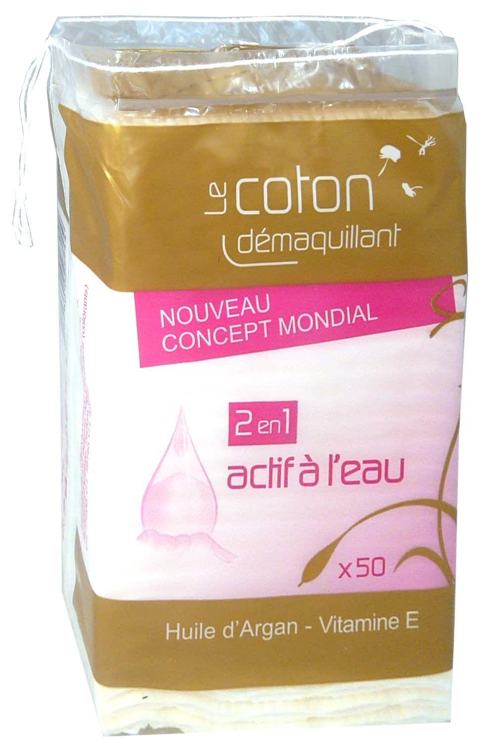 TETRA MEDICAL Le coton demaquillant 2en1 actif a l'eau x50