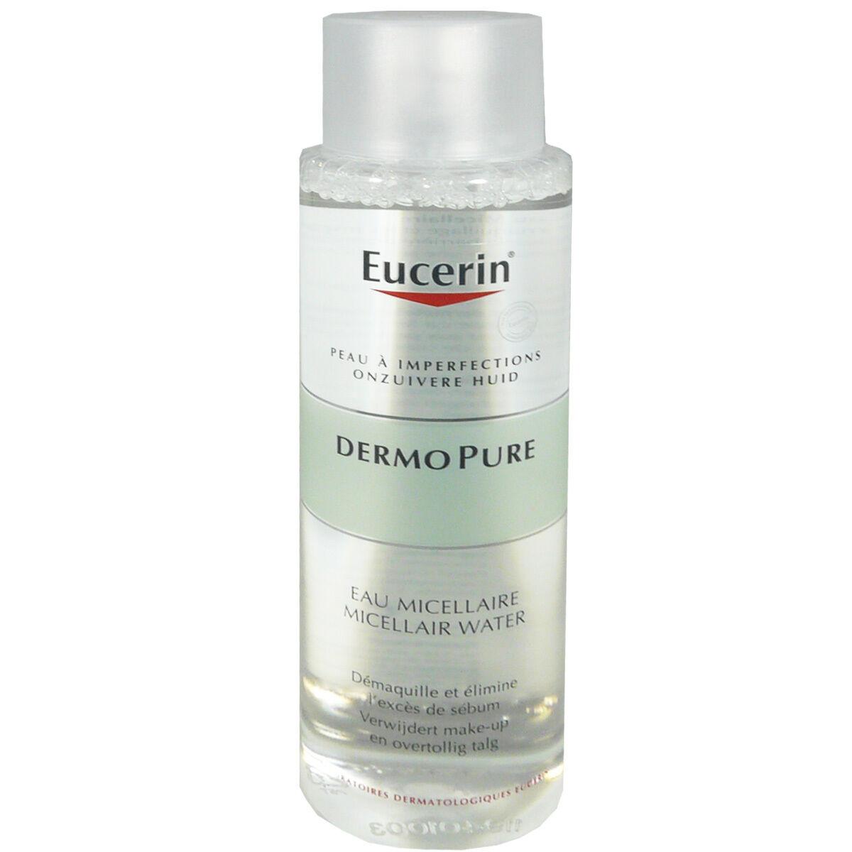 Eucerin dermopure eau micellaire 400 ml peau a imperfections