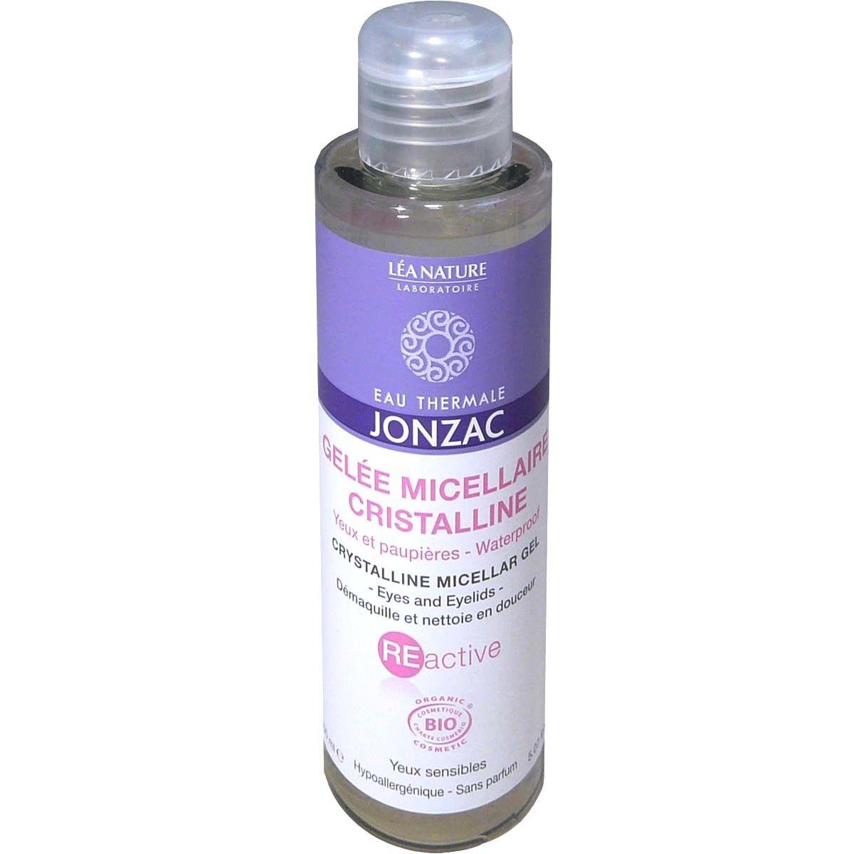 Jonzac gelee micellaire cristalline bio yeux et paupieres 150ml