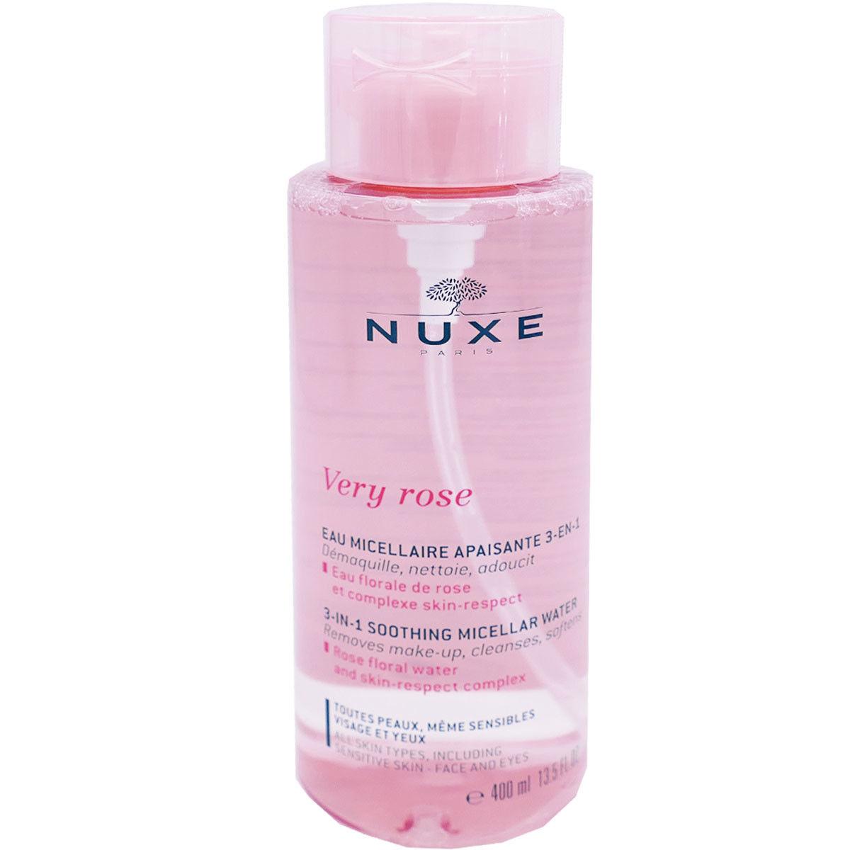 Nuxe very rose eau micellaire 400 ml apaisante