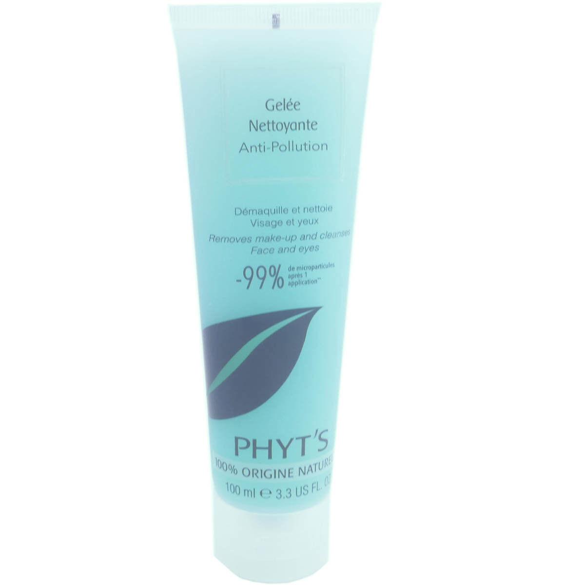 Phyt's gelee nettoyante anti-pollution visage & yeux 100ml