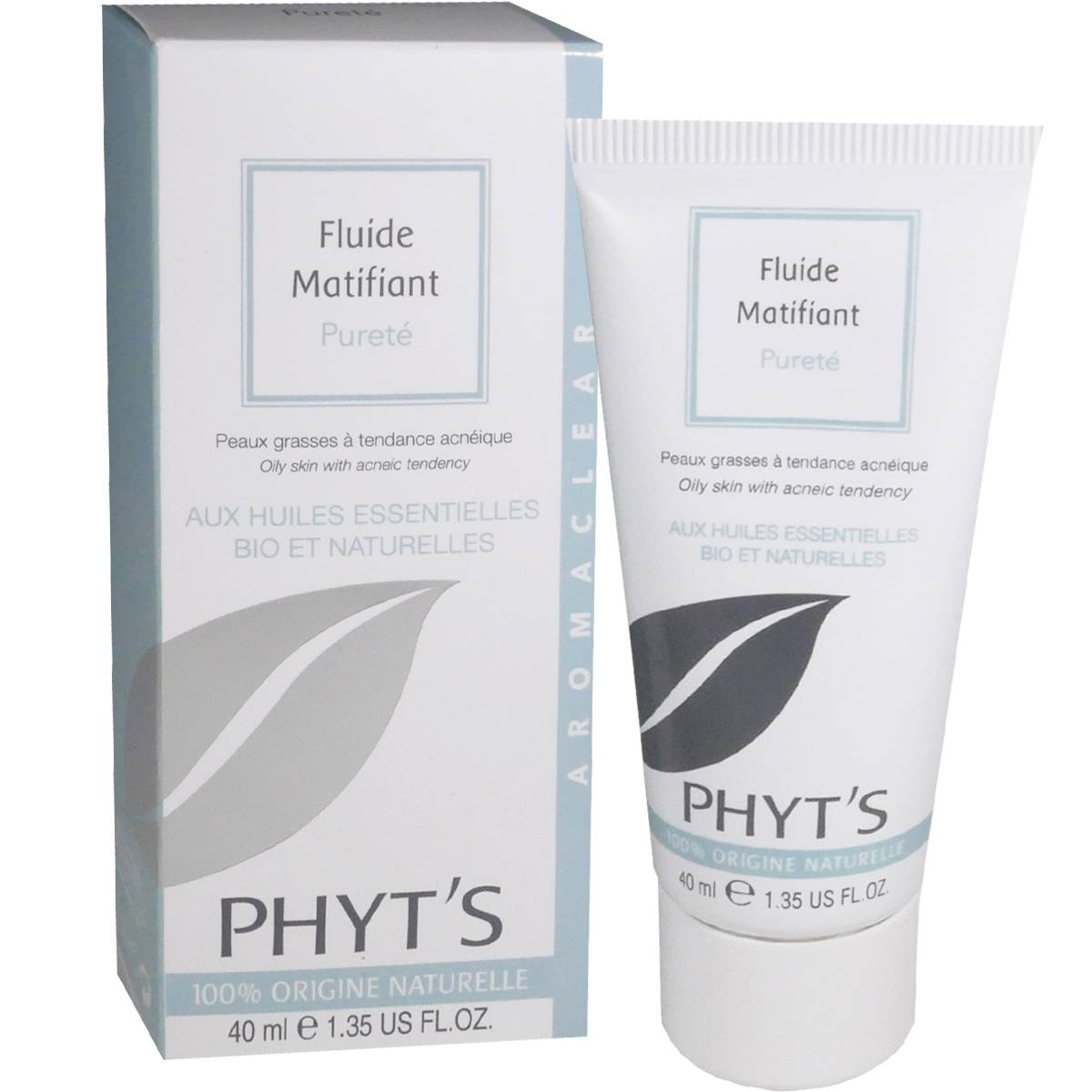 Phyt's fluide matifiant purete 40 ml huiles essentielles