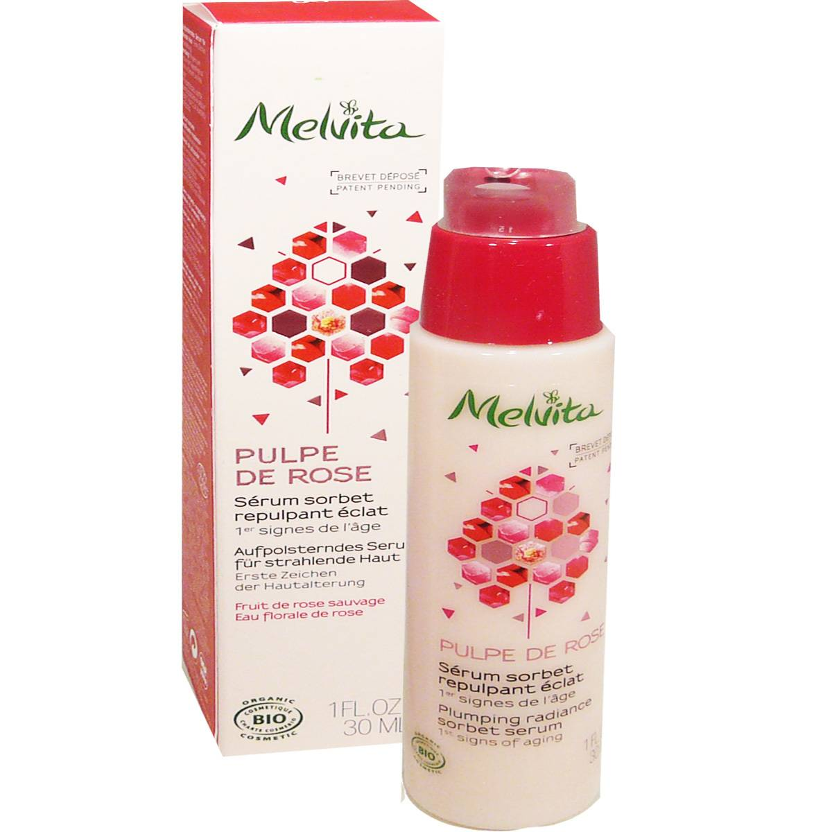 Melvita serum sorbet pulpe de rose 30 ml