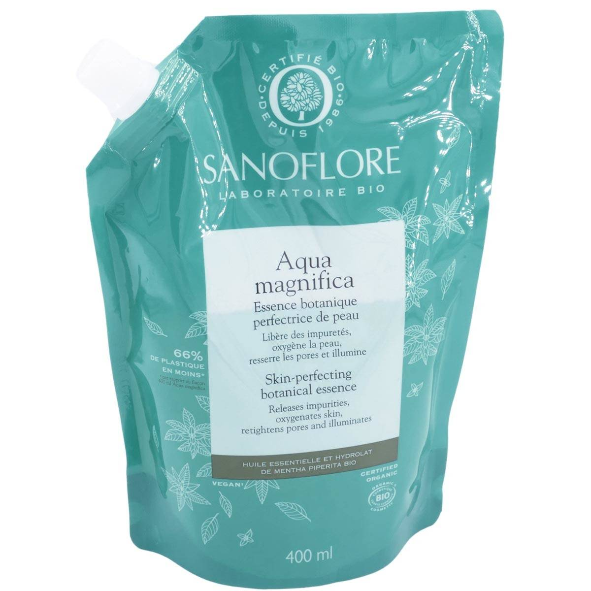 Sanoflore aqua magnifica essence perfectrice peau 400ml