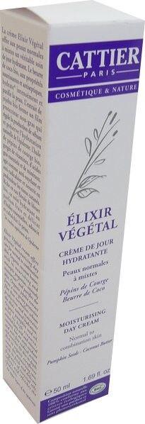Cattier bio elixir vegetal creme de jour hydratante 50ml