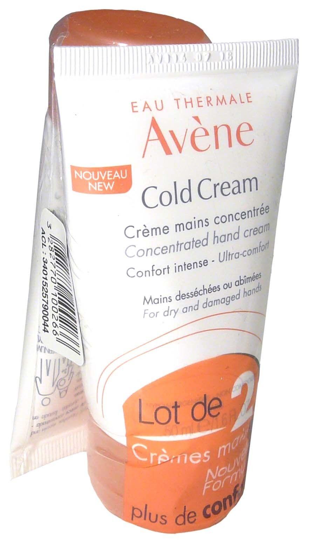 Avene cold cream creme mains lot de 2