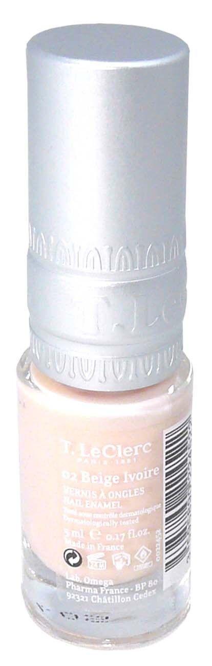 T.leclerc vernis 02 beige ivoire 5ml