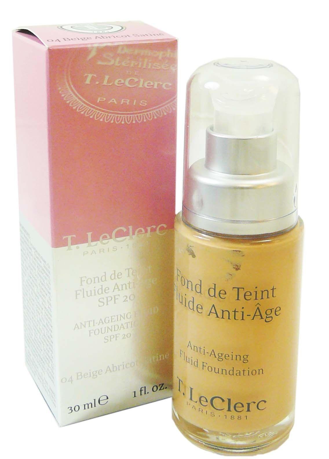 T.LECLERC Tleclerc fond de teint fluide anti age beige abricot satin 4