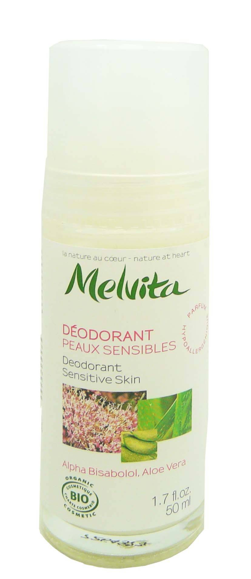 Melvita deodorant roll on  peaux sensibles 50ml