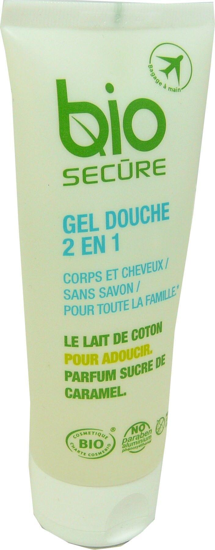 Bio secure gel douche 2 en 1 corps et cheveux sans savon