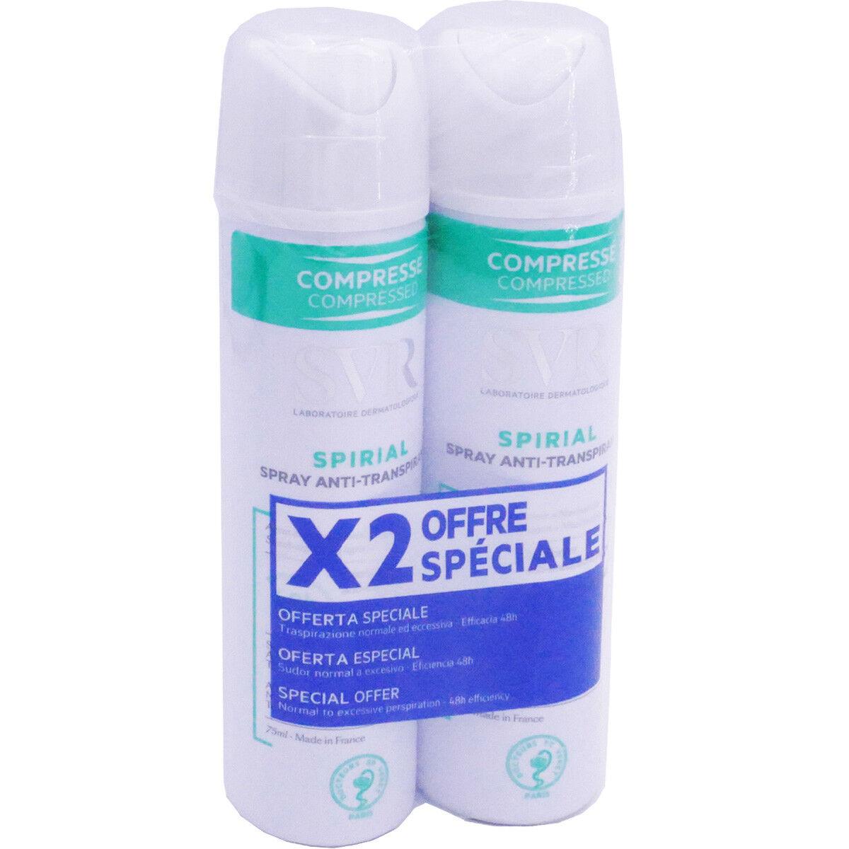 Svr spirial spray anti-transpirant 2x 75ml
