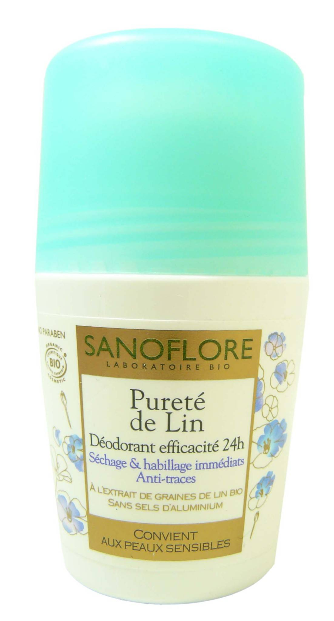 Sanoflore deo roll on 24h purete de lin 50ml