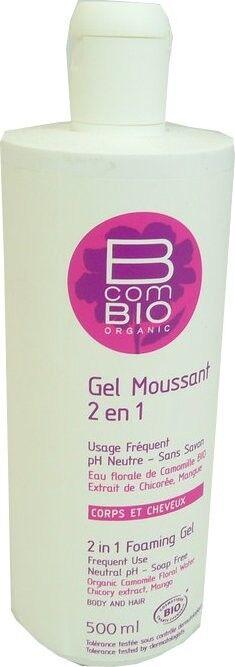 B com bio gel moussant 2 en 1 corps et cheveux 500ml