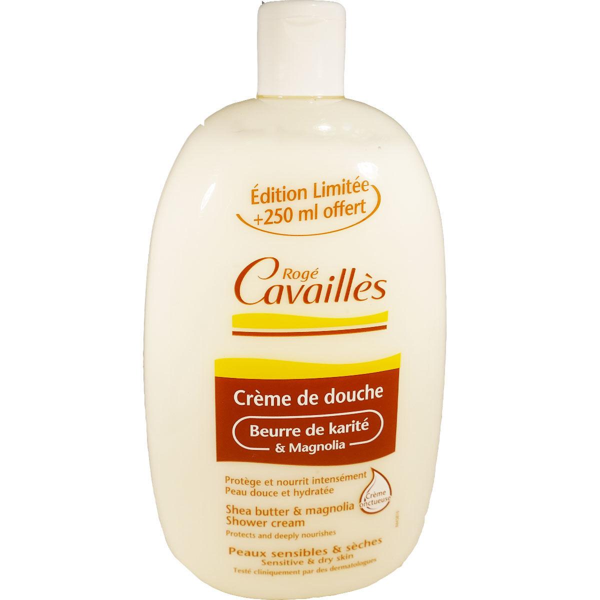 Roge cavailles creme de douche beurre de karite  750 ml