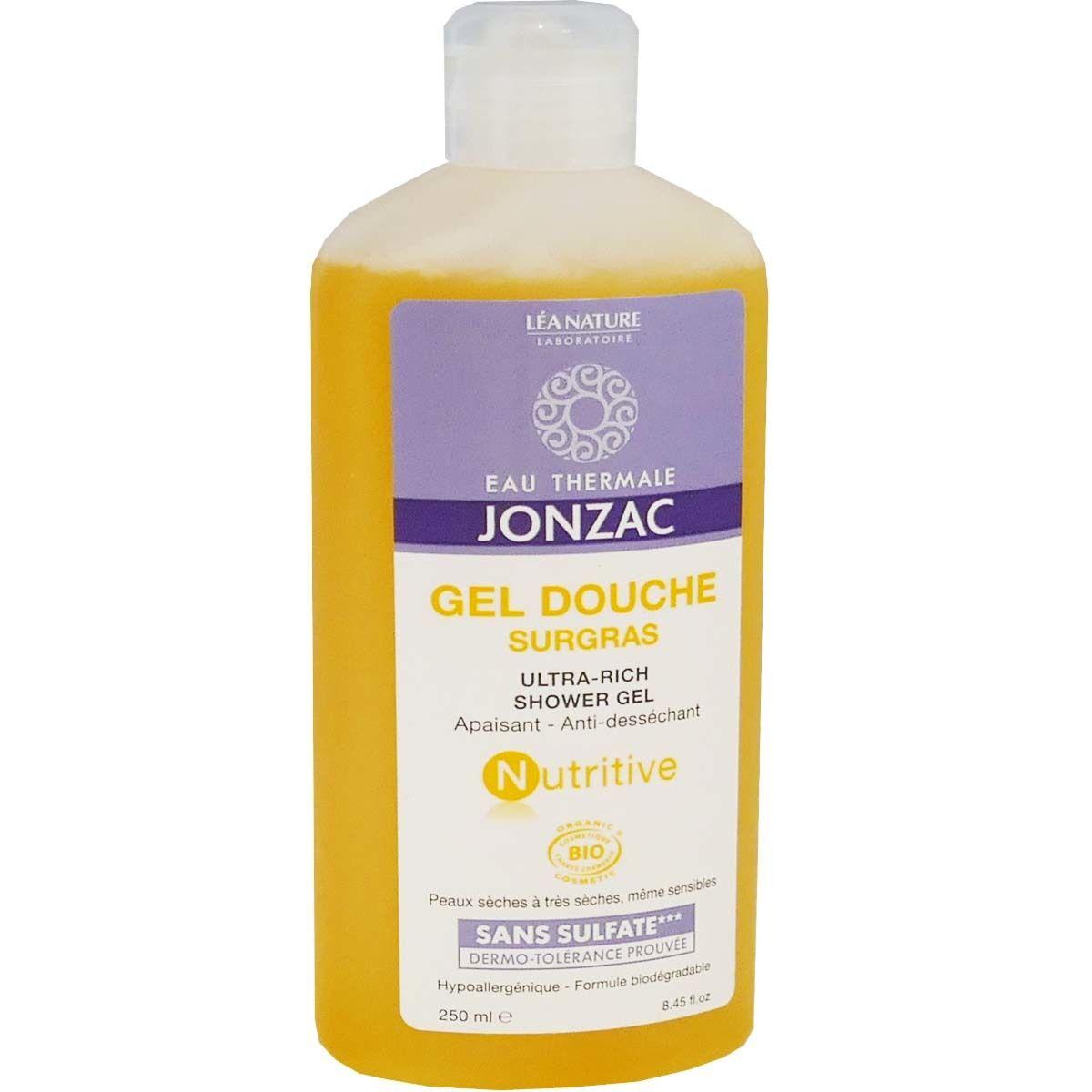 Jonzac gel douche surgras nutritive bio 250 ml