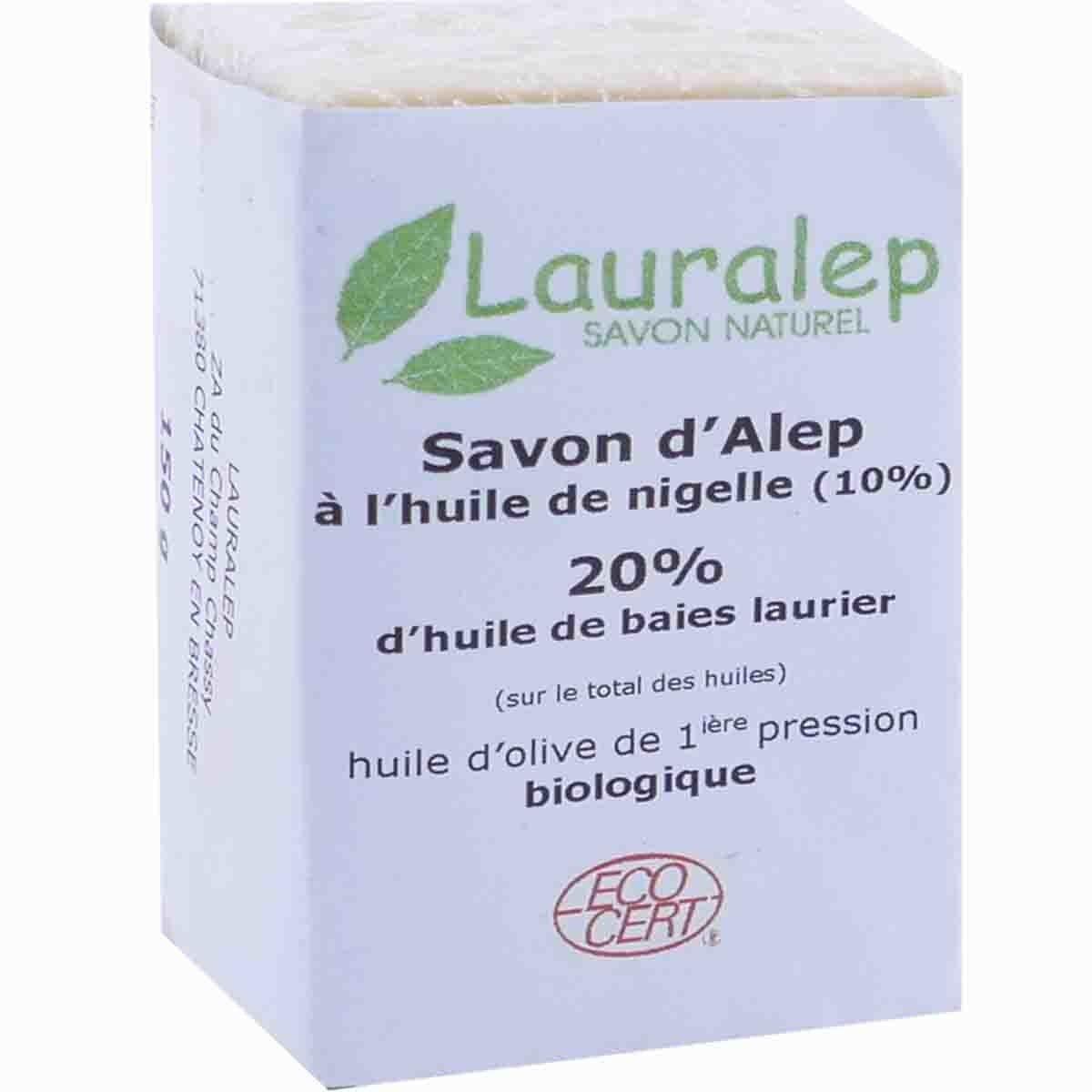 Lauralep savon d'alep huile de nigelle 150g