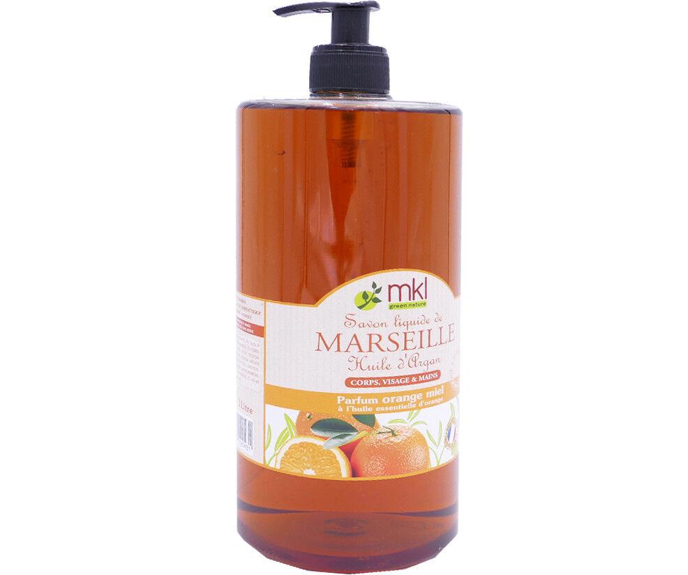Mkl savon de marseille orange miel 1l