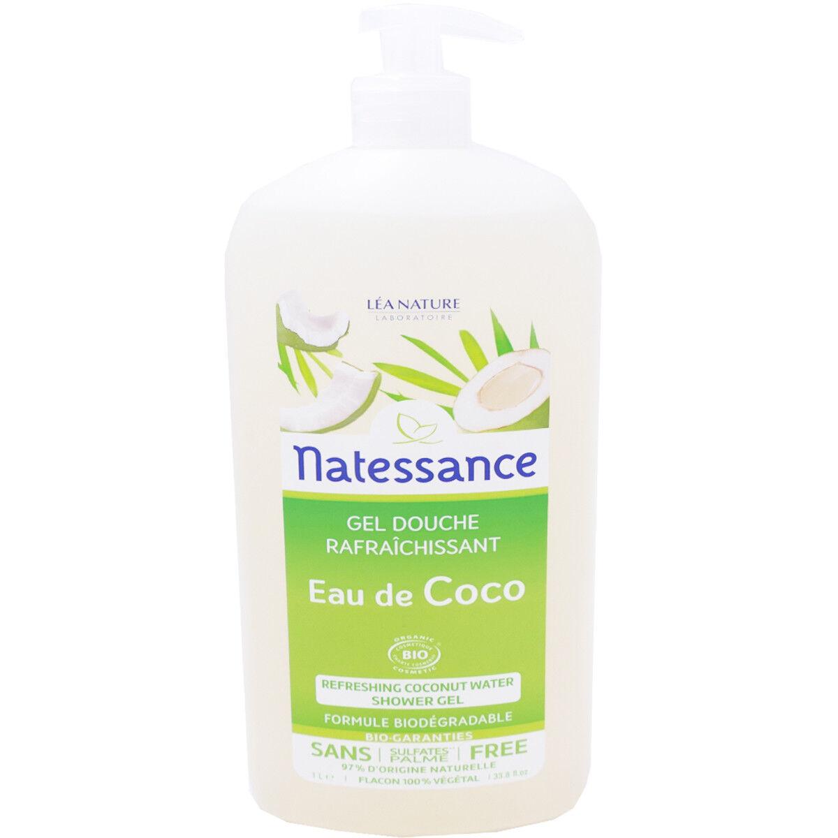 Natessance gel douche eau de coco bio 1l