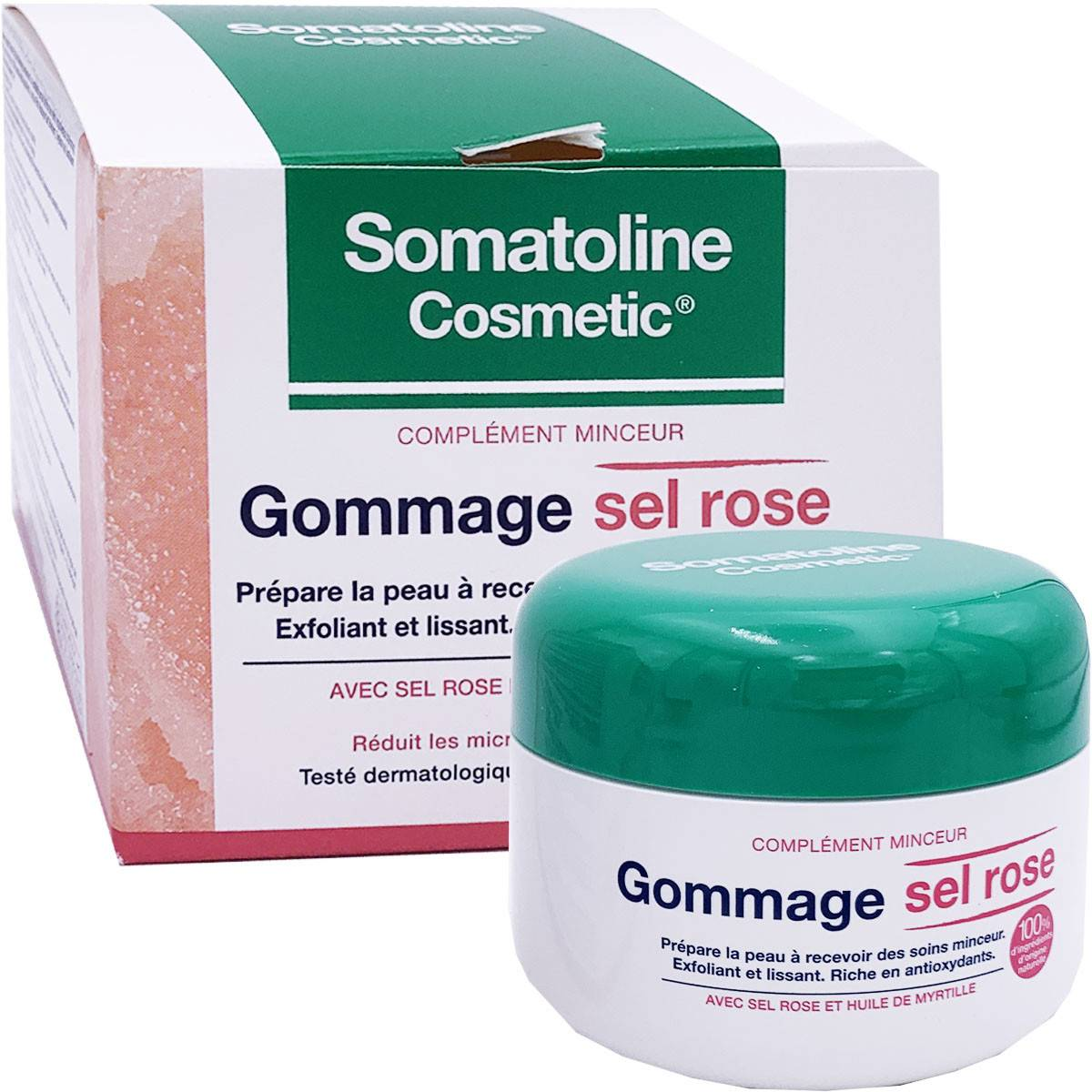 Somatoline gommage sel rose 350g