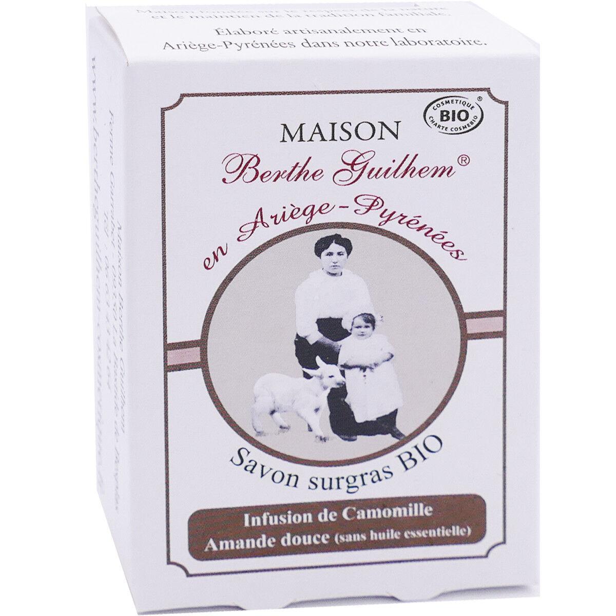 Berthe guilhem savon surgras bio 100g infusion de camomille amande douce