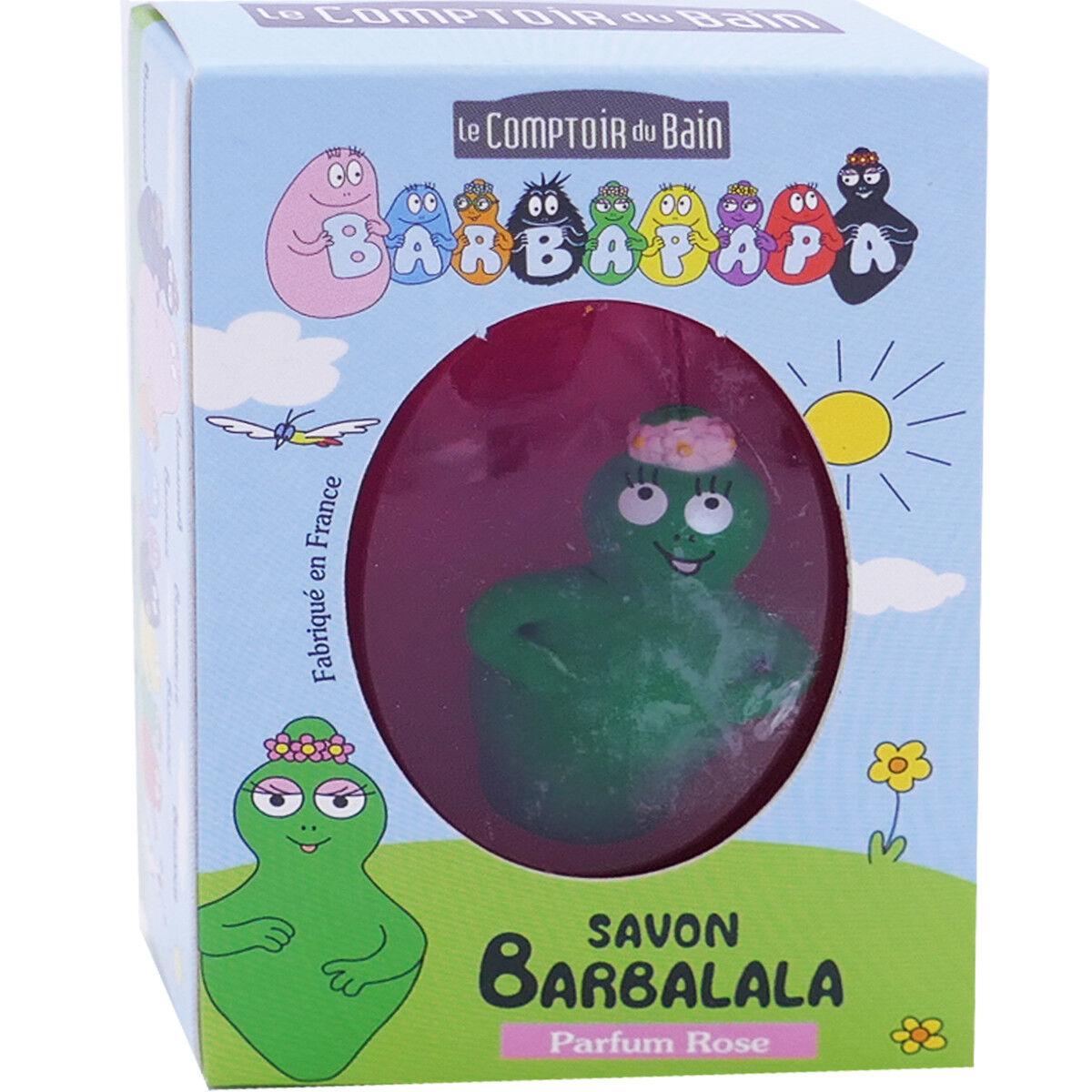 LE COMPTOIR DU BAIN Barbapapa savon barbalala parfum rose 84g + figurine