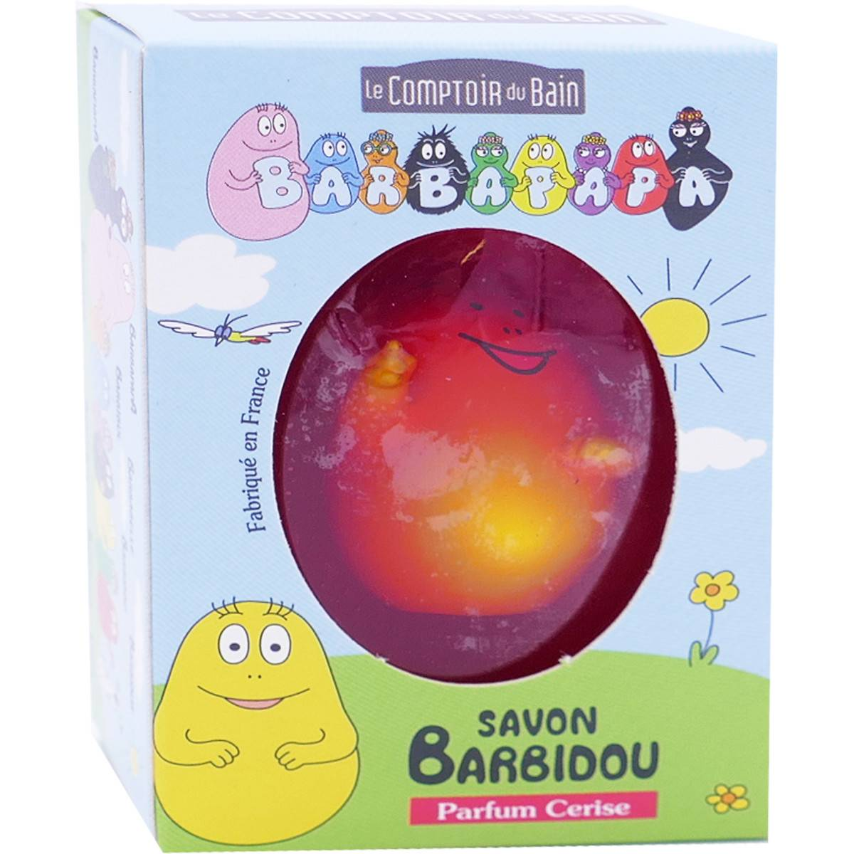 LE COMPTOIR DU BAIN Barbapapa savon barbidou parfum cerise 84g + figurine