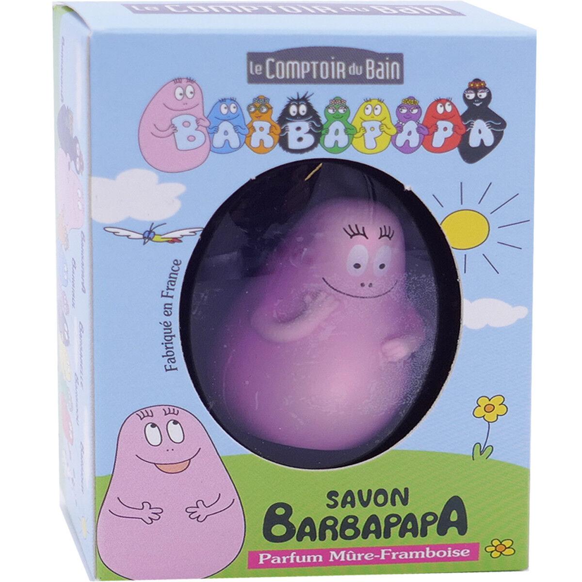 LE COMPTOIR DU BAIN Barbapapa savon barbapapa 84g + figurine parfum mure framboise
