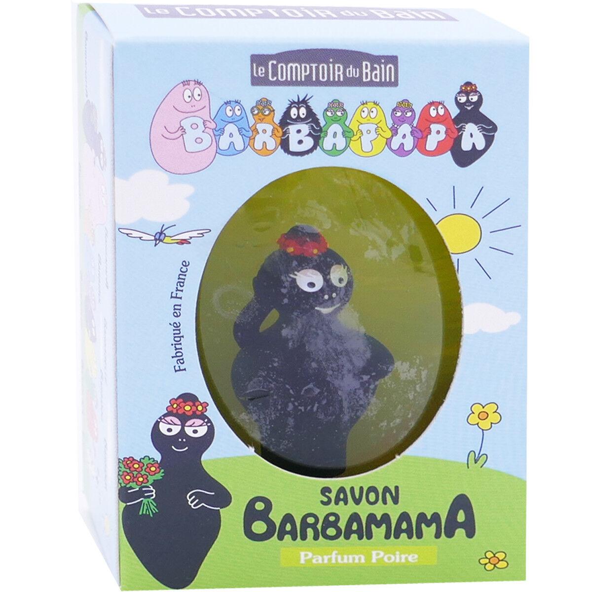 LE COMPTOIR DU BAIN Barbapapa savon barbamama parfum poire 84g + figurine