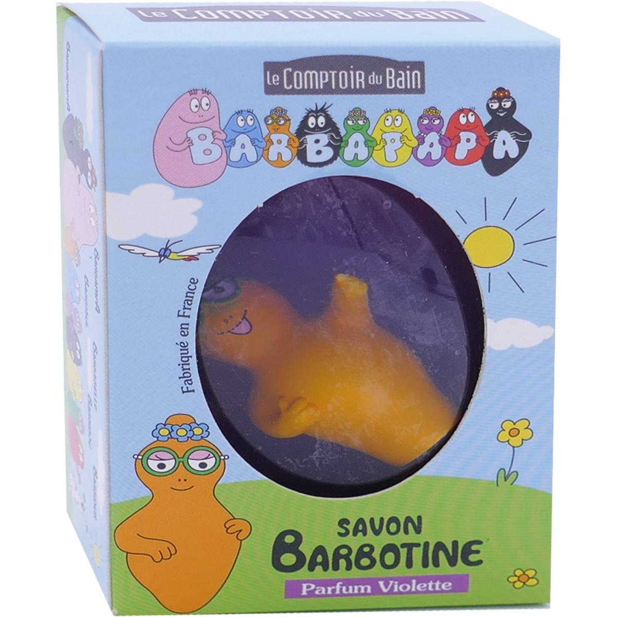 LE COMPTOIR DU BAIN Barbapapa savon barbotine parfum violette 84g + figurine