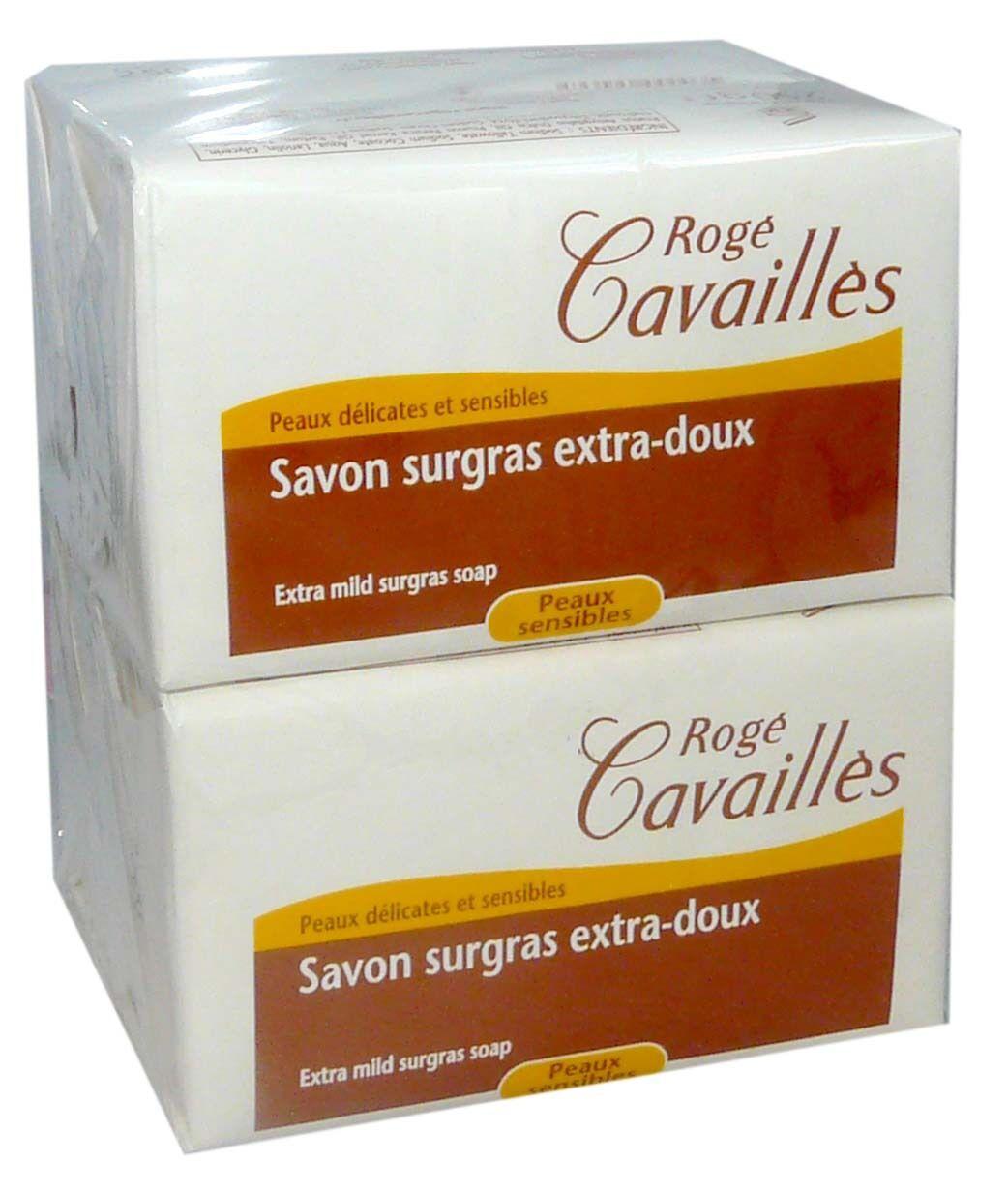 Roge cavailles savon surgras extra doux lot de 4x250g