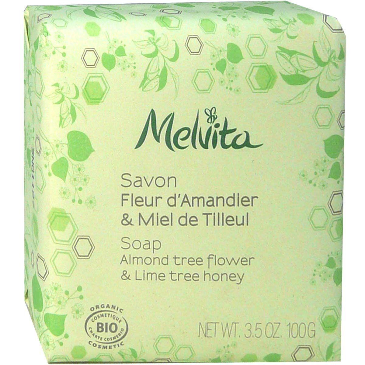 Melvita savon bio 100g parfum au choix