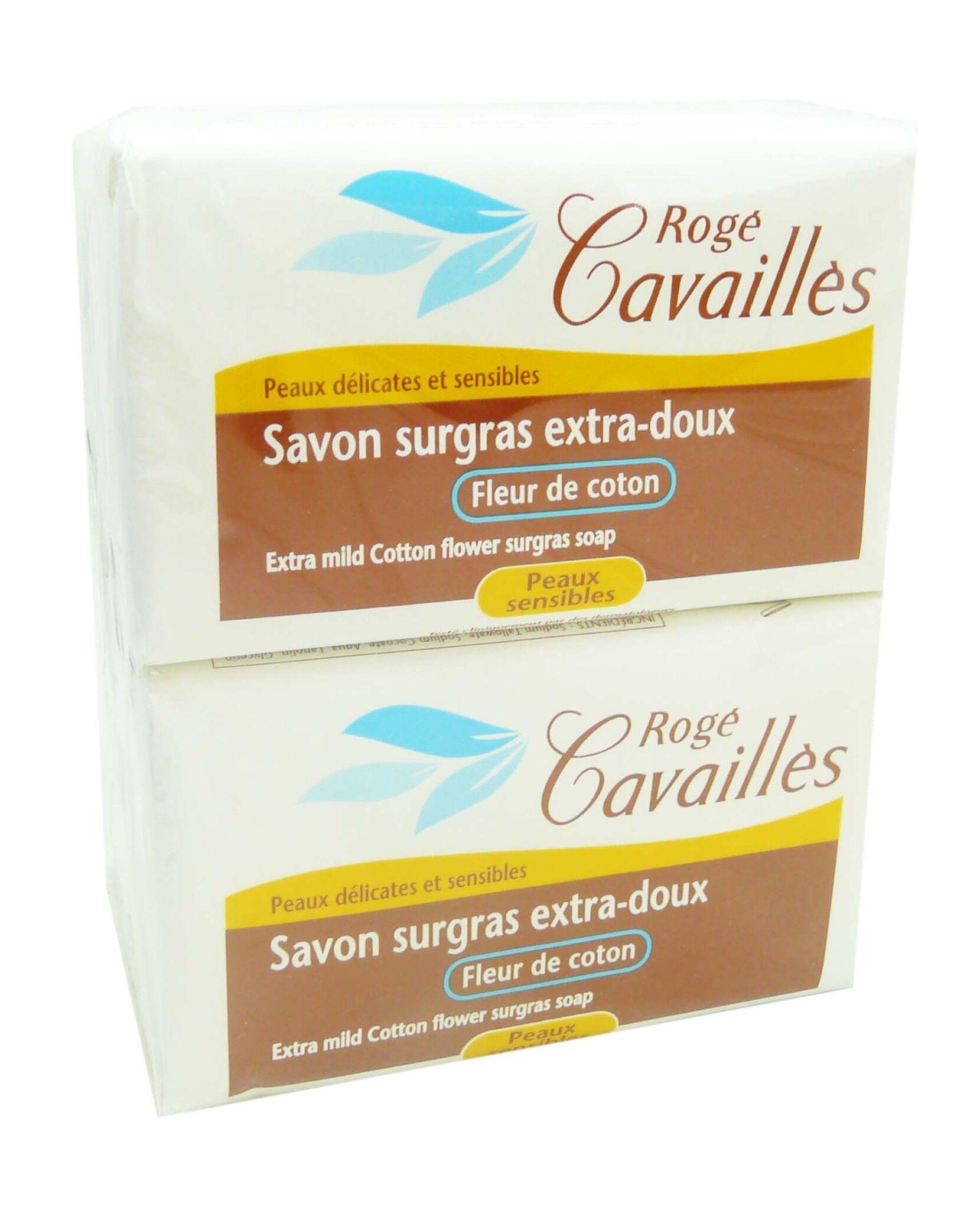 Roge cavailles savon surgras 4x250g parfum au choix